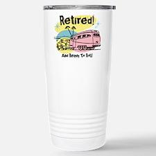 Retro Trailer Retired Stainless Steel Travel Mug