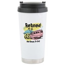 Retro Trailer Retired Travel Mug