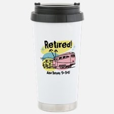 Retro Trailer Retired Travel Mug