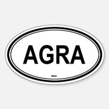 Agra, India euro Oval Decal