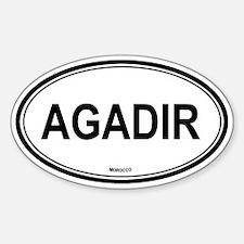 Agadir, Morocco euro Oval Decal