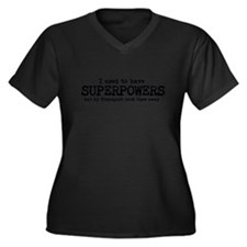 Superpowers therapist Women's Plus Size V-Neck Dar
