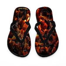 Red Hot Coals ~ Flip Flops