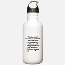 THOMAS JEFFERSON QUOTE Water Bottle