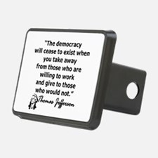 THOMAS JEFFERSON QUOTE Hitch Cover
