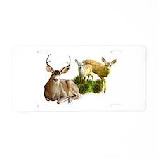 Deer Family Aluminum License Plate