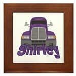 Trucker Shirley Framed Tile