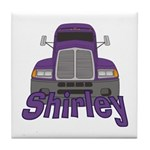 Trucker Shirley Tile Coaster