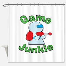 Game Junkie Shower Curtain