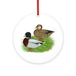 Grey Call Ducks Ornament (Round)