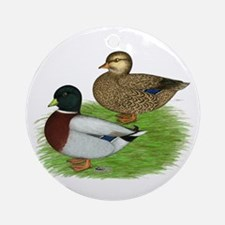 Grey Call Ducks Ornament (Round)