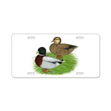 Grey Call Ducks Aluminum License Plate