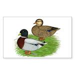 Grey Call Ducks Sticker (Rectangle 50 pk)