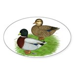 Grey Call Ducks Sticker (Oval 10 pk)