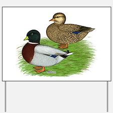 Grey Call Ducks Yard Sign