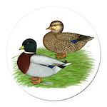 Grey Call Ducks Round Car Magnet