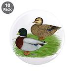 "Grey Call Ducks 3.5"" Button (10 pack)"