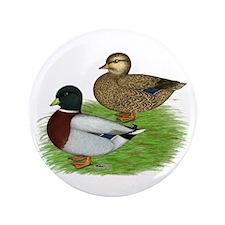 """Grey Call Ducks 3.5"""" Button"""