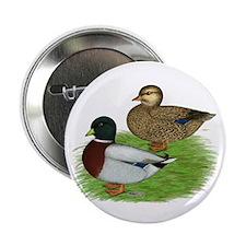 """Grey Call Ducks 2.25"""" Button"""