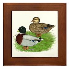 Grey Call Ducks Framed Tile