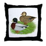 Grey Call Ducks Throw Pillow