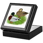 Grey Call Ducks Keepsake Box