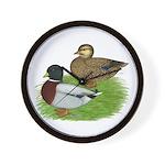 Grey Call Ducks Wall Clock