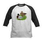 Grey Call Ducks Kids Baseball Jersey