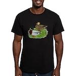 Grey Call Ducks Men's Fitted T-Shirt (dark)