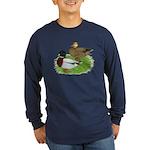 Grey Call Ducks Long Sleeve Dark T-Shirt