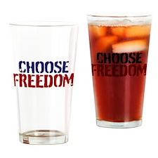 Choose Freedom Drinking Glass