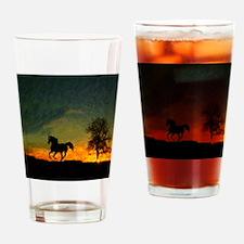 AFTM Old Black Stallion At Sunrise Drinking Glass