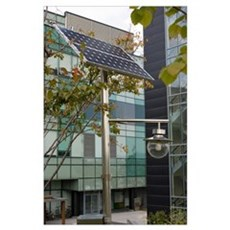 Solar-powered street light in Daejeon Poster