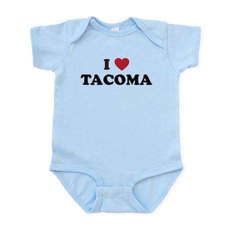 I Love Tacoma Washington Infant Bodysuit
