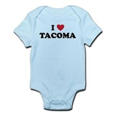 I Love Tacoma Washington Infant Bodysuit