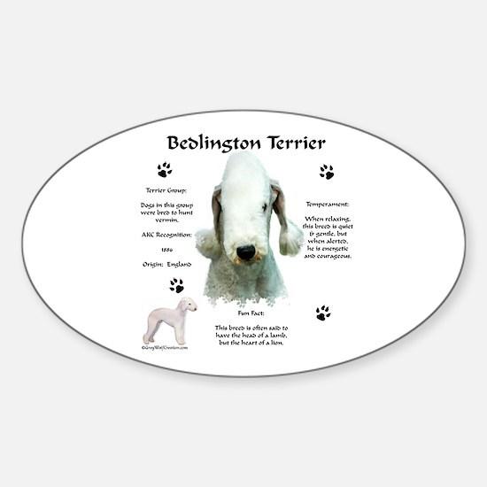 Bedlington 1 Oval Decal