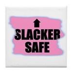 HACKER SAFE (IN THE PINK) Tile Coaster