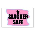 SLACKER SAFE (PINK BACKGROUND) Sticker (Rectangula