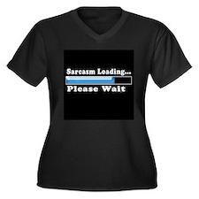 Sarcasm loading Women's Plus Size V-Neck Dark T-Sh