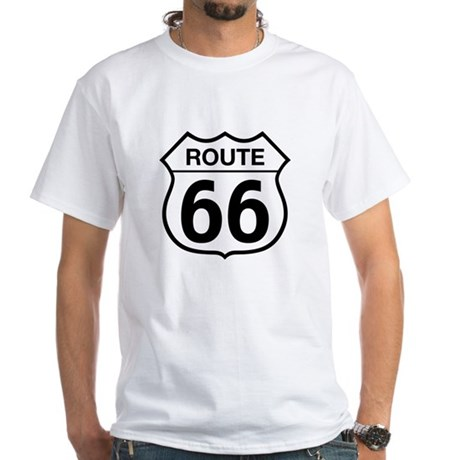 Route 66 White T-Shirt