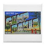 Camp Davis North Carolina Tile Coaster