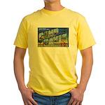 Camp Davis North Carolina Yellow T-Shirt