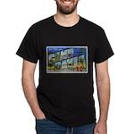 Camp Davis North Carolina (Front) Black T-Shirt