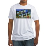 Camp Davis North Carolina (Front) Fitted T-Shirt