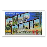Camp Davis North Carolina Rectangle Sticker