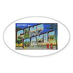 Camp Davis North Carolina Oval Sticker