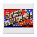 Camp Claiborne Louisiana Tile Coaster