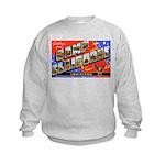 Camp Claiborne Louisiana (Front) Kids Sweatshirt