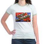 Camp Claiborne Louisiana (Front) Jr. Ringer T-Shir
