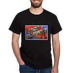 Camp Claiborne Louisiana (Front) Black T-Shirt